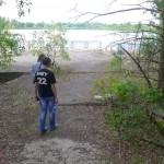 貯水池にはホットスポットが。奥の水辺の向こう岸は6号機、7号機の建設予定地だったそうだ。