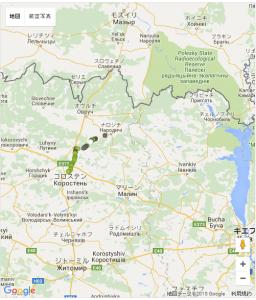 ナロヂチはチェルノブイリの西70kmにある。レベル2の強制移住区域。